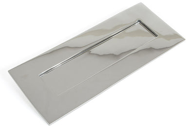 From the Anvil Small Letterplate - Polished Chrome