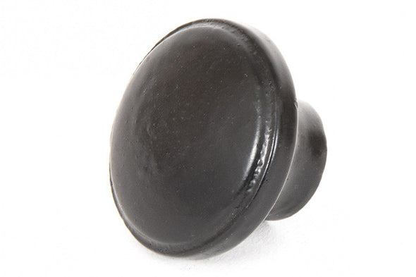 From The Anvil Black Ribbed Cabinet Knob