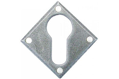 From the Anvil Pewter Diamond Euro Escutcheon