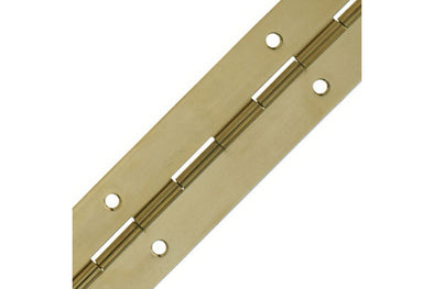 Piano Hinge Polished Brass 1.8m