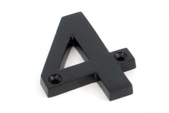 From the Anvil Black Numeral 4