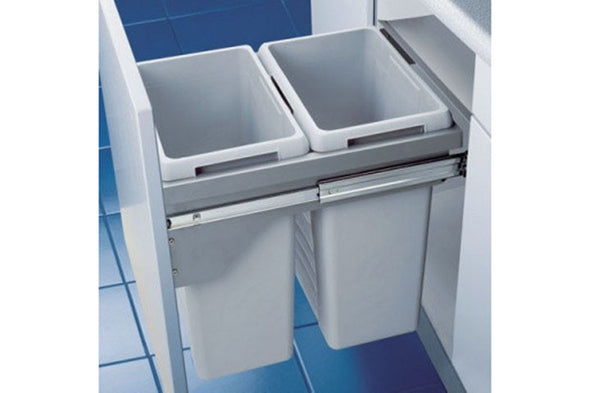 Hafele Euro-Cargo 45 and 50 Waste Bin, with soft control