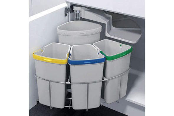 Oeko Swing out waste bins, 39 litres
