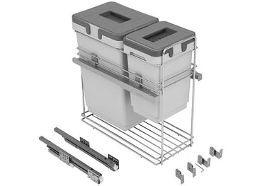 Kombi Pull-out Waste Bin 1x 24, 1x 8 litre