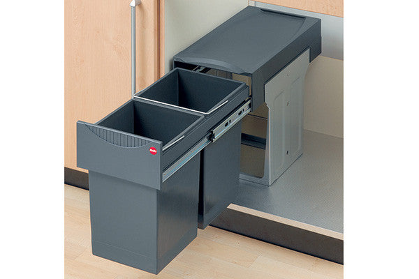 Halo Tandem Integrated Waste Bin 2 X 15 Litres Kitchen Integrated Waste Bins  For Kitchens