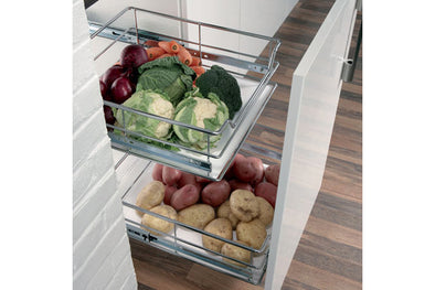 Pull-Out VegBasket w.SoftClose 400mm Chr