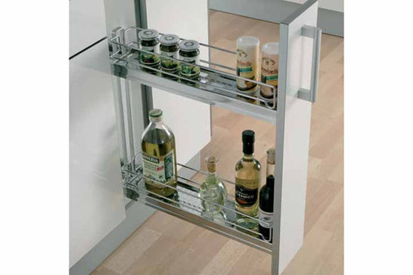 Pull-Out 2-Tier Chrome Basket 150mm
