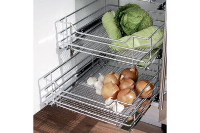 Mesh 500mm Pull-Out Basket (HingeDr) Chr