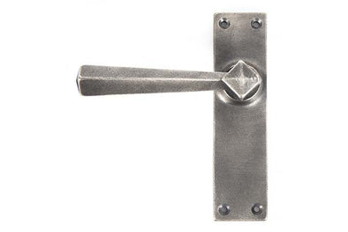 From the Anvil Antique Pewter Straight Lever Latch Set