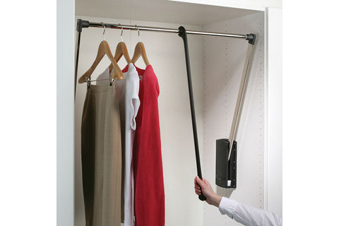 Wardrobe Lift 770-1200mm 10Kg Nickel/Blk