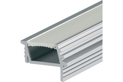 Angled aluminium profile, 7 mm depth, for Loox LED 2013/15 or 3013/15 flexible strip lights, recess mounting
