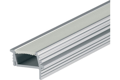 Loox angled aluminium profile, 7 mm depth, for Loox flexible strip lights, recess mounting
