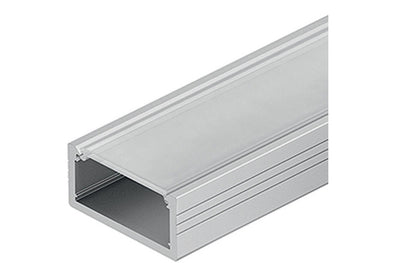 Loox aluminium profile, 8.5 mm height, for Loox LED flexible strip lights, surface mounting
