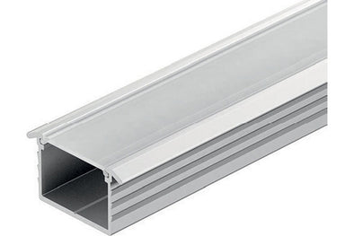 Loox aluminium profile, 11 mm depth, for Loox LED flexible strip lights, recess mounting