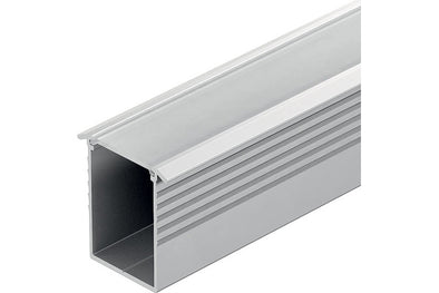Loox Aluminium profile, 24 mm depth, for Loox LED flexible strip lights, recess mounting