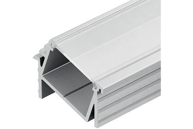 Loox angled aluminium profile, 11 mm depth, for Loox LED flexible strip lights, recess mounting