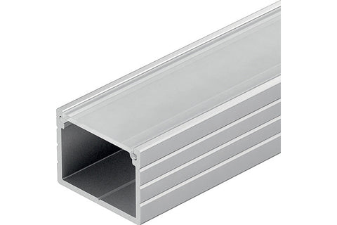 Loox aluminium profile, 13 mm height, for Loox LED flexible strip lights, surface mounting