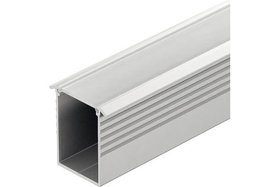 Aluminium profile, recess mounting