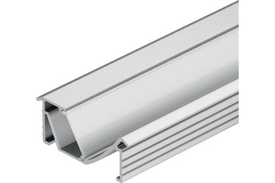 Loox Angled aluminium profile, 14 mm depth, for Loox LED flexible strip lights, recess mounting