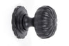 From The Anvil Black Flower Cabinet Knob With Base 32mm