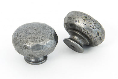 From The Anvil Natural Smooth Hammered Knob - Large