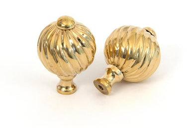 From the Anvil Polished Brass Spiral Cabinet Knob - Small