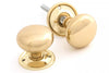 From the Anvil Polished Brass Mushroom Knob Set