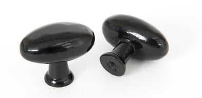 From the Anvil Oval Cabinet Knob - Black