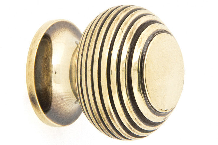 From The Anvil Antique Brass Beehive Cabinet Knob 30mm – Kitchen ...