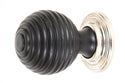 From The Anvil Ebony And Pn Beehive Cabinet Knob 38mm