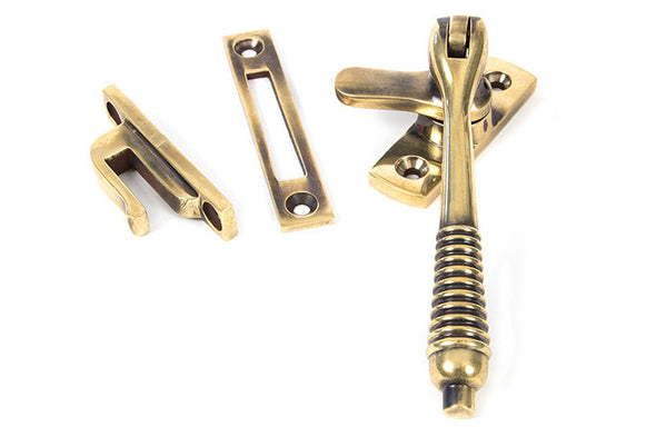 From the Anvil Aged Brass Reeded Fastener - Locking
