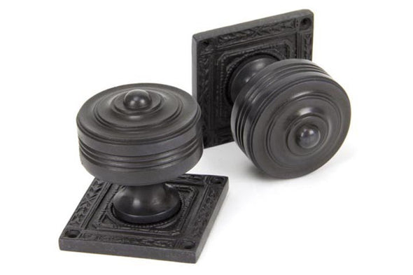 From the Anvil Aged Bronze Tewkesbury Square Mortice Knob Set
