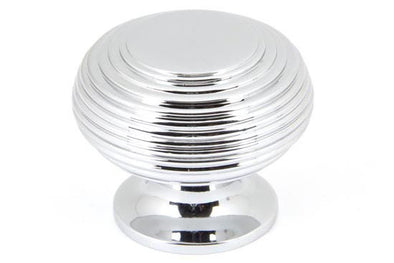 From the Anvil Polished Chrome Beehive Cabinet Knob - Large