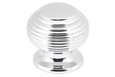 From the Anvil Polished Chrome Beehive Cabinet Knob - Small