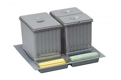 PWS Recycling Waste Bin Set for Large Drawers Grey