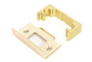 From the Anvil Polished Brass '' Rebate Kit for Tubular Mortice Latch