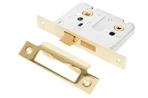 From the Anvil Brass 3'' Bathroom Mortice Lock