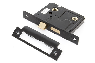 From the Anvil Black 3'' Bathroom Mortice Lock