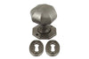 Hafele Loxley Cast Iron Door Knob with Escutcheons
