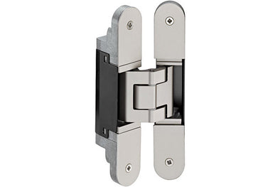 TE340 3D Hinge Dull chrome 160x73.5x34mm