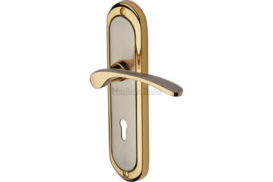 Heritage Brass Ambassador Lever Backplate  Jupiter Split Finish