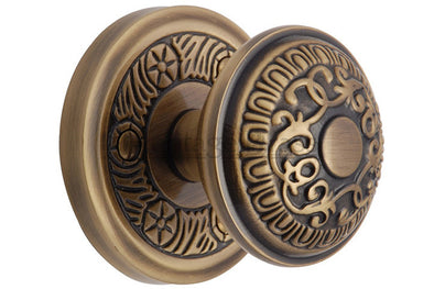 Heritage Brass Aydon Antique Brass Decorative Mortice Knob