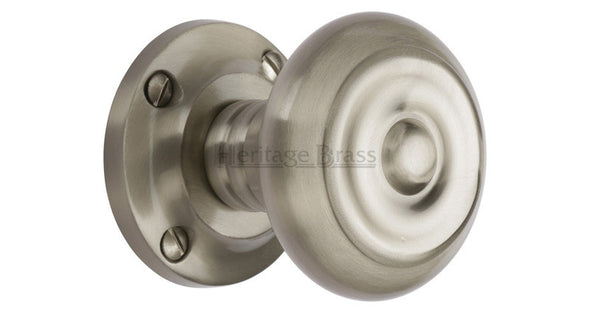 Heritage Brass Aylesbury Satin Nickel Mortice Knob