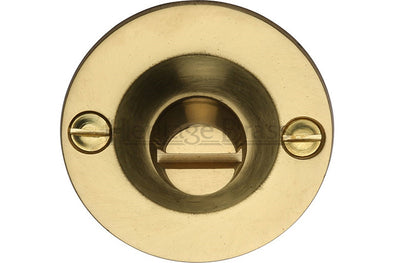 Heritage Brass Bolt for Privacy in Bathroom or Bedroom Doors Polished Brass finish