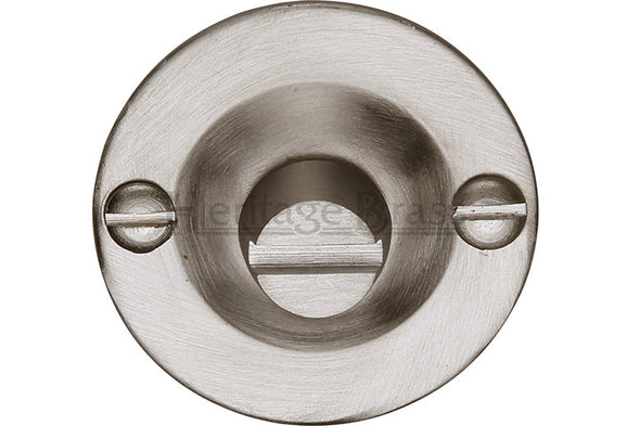 Heritage Brass Bolt for Privacy in Bathroom or Bedroom Doors Satin Nickel finish