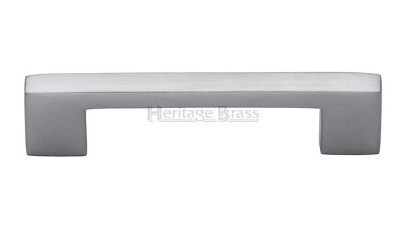 Heritage Brass Satin Chrome Cabinet Pull Cabinet Handle