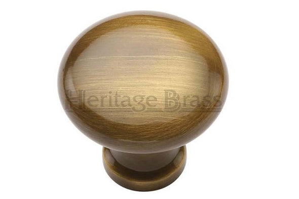 Heritage Brass Antique Brass Cabinet Knob 32mm Diameter