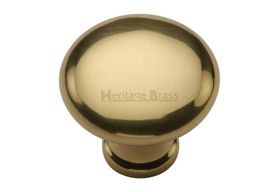 Heritage Brass Polished Brass Cabinet Knob 32/38mm Diameter