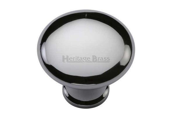 Heritage Brass Polished Chrome Cabinet Knob 32/38mm Diameter