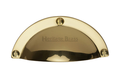 Heritage Brass Polished Brass Cup Cabinet Handle 82 mm Length